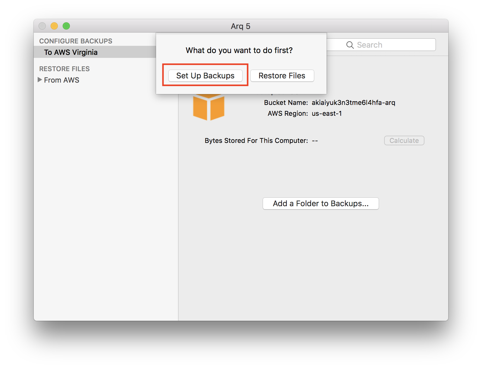 how to set up auto back up for mac